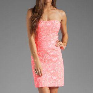 Revolve | Pink Lace Strapless Tube Dress